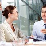 встреча делового партнера диалог