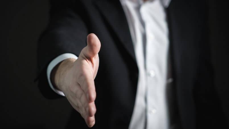 рукопожатие диалог